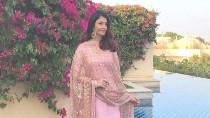 Aishwarya Rai's pink suit at Isha Ambani wedding