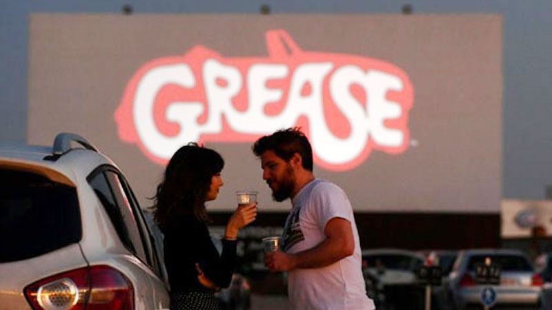 Social distance cinema: 'Grease' draws crowds to Madrid drive-in