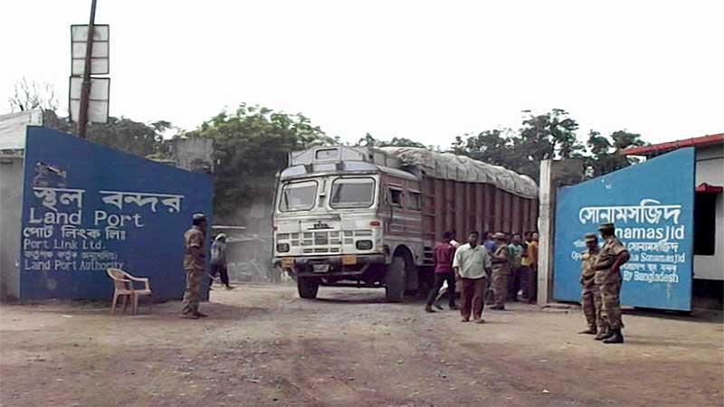 Sonamasjid land port resumes operation