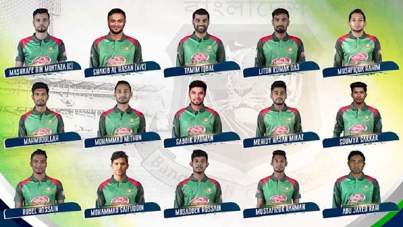 Bangladesh Announce 15-Man Squad