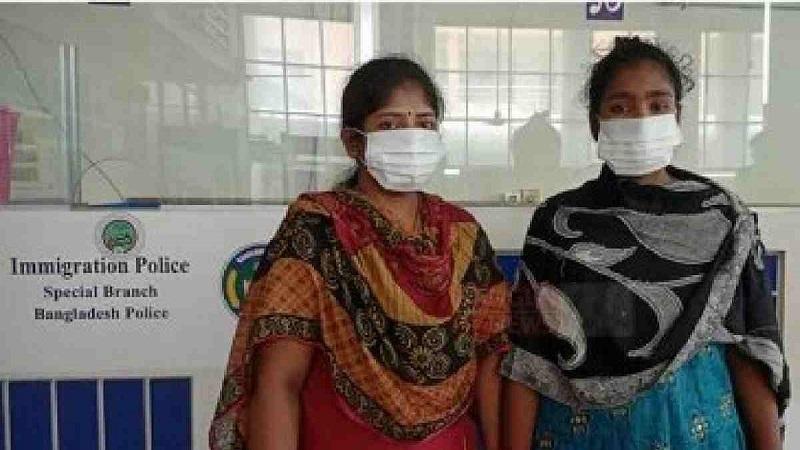 Two Bangladeshi women trafficked to India return home