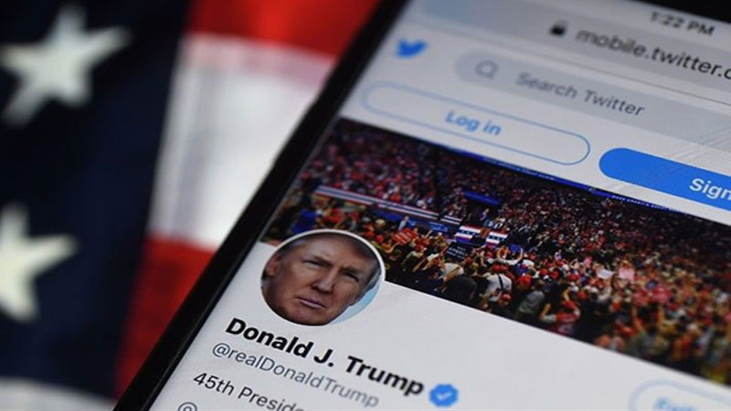 Trump accuses Twitter of conspiring 'to silence me'