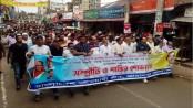 Jamalpur AL brings out procession against communal violence