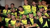 Unbeaten Australia claim tri-series