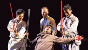 Dhaka Theatre stages 'Dhaboman' at Mahila Samiti today