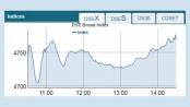 Bourses continue upbeat trend
