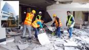 Demolition of BGMEA bldg begins