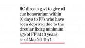 Gazette on freedom fighters' minimum age illegal:HC