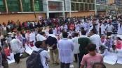 Medical students block Dhaka-Mymensingh highway