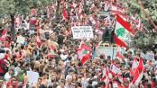Tens of thousands demonstrate again as Lebanon's govt frays
