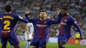 10-man Barcelona hold on for draw at Celta Vigo