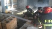 Fire at Nasir Glassware factory in Tangail