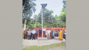 Flag hoisted for first time