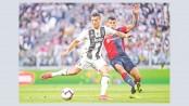 Ronaldo celebrates landmark goal