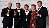'Three Billboards' tops Baftas as 'Time's Up' shares stage