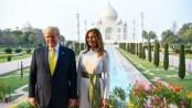 Mr and Mrs Trump visit Taj Mahal