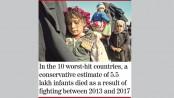 War kills 1 lakh babies a year