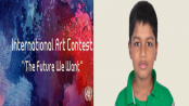Bangladeshi Boy Zareef becomes youngest Jury of UN art contest 'The Future We Want'