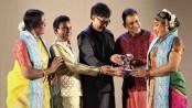 Bharatanatyam dancer Narthaki Nataraj honoured