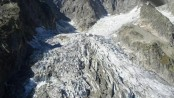 Climate change fast melting glacier in Italy