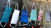 Animal print, beads or plain black, masks become fashion item