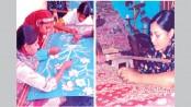 Craftswomen busy with ornamental stitching ahead of Eid-ul-Fitr
